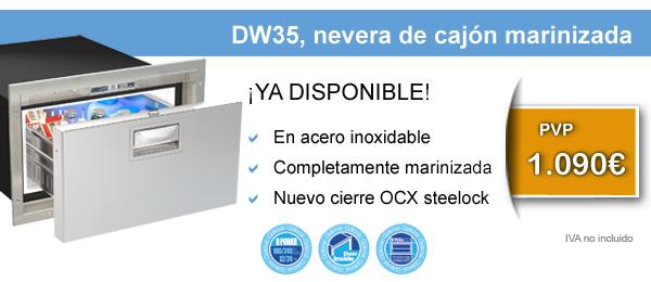 DW35, nevera de cajón marinizada PV 1.090€ IVA no incl.