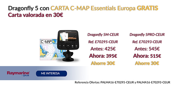 Dragonfly 5 con Carta C-Map Essentials Europa Gratis . Carta valorada en 30€