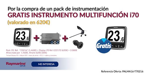 Por la compra de un pack de instrumentación gratis instrumento multifunción i70 (valorado en 620€)
