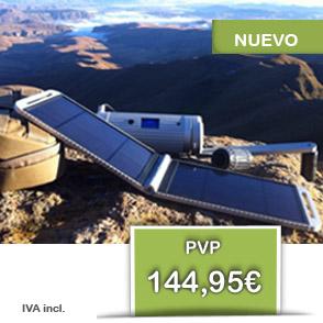 Solarmonkey Expedition - cargador solar 5V por 144,95€ IVA incl.