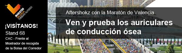 Aftershokz con la Maratón de Valencia - Ven y prueba los auriculares de conducción ósea - STAND 68 CAC - Museu Ciències