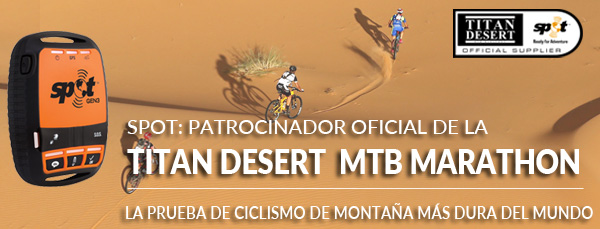 SPOT: PATROCINADOR OFICIAL DE LA TITAN DESERT MTB MARATON